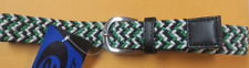 Childrens Toddler Multi Color Tweed Belt Green, Blue, White Size 6-7 Years