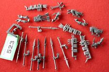 Games Workshop Warhammer Fantasy Arms Warriors Lizardmen Army Job Lot Standards