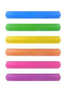 6PCS Colorful Slap Bracelets Assorted Slap Wrap Wrist Bands Kids Party