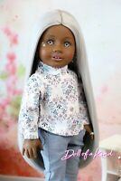 American Girl doll PURE SILVER  Premium wig Fits most 18''dolls Blythe OG