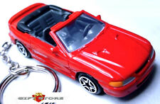 RARE KEY CHAIN RED 95~96~97~98 FORD MUSTANG GT CONVERTIBLE NEW LIMITED EDITION