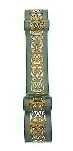 """Wall Sconce Candle Holder Scroll Design Black & Gold Metal 24 1/4"""" L x 4 3/8"""" W"""