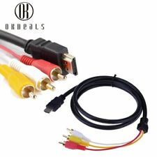 HDMI Male To 3 RCA Video Audio AV Cable Adapter VGA Cord For TV HDTV DVD