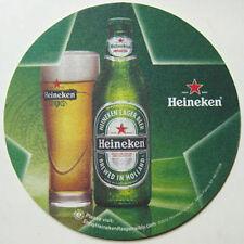 HEINEKEN LAGER BEER Coaster MAT bottle & glass NETHERLANDS, 2010 on mat, HOLLAND