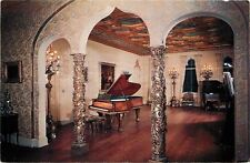 Sarasota~Ringling Residence~Grand Piano in Ballroom~Willy Pogany Paintings~1950