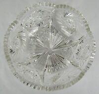 "ABP American Brilliant Period Antique Cut Crystal Bowl ~ 9"" - 4 LB 14 OZ"