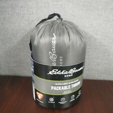 Eddie Bauer Packable Throw Down Alternative Camping Blanket Backpacking ~NEW~