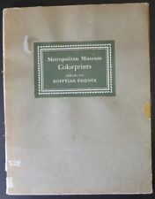 1928 Metropolitan Museum NY Colorprints Series VII Egyptian Faience Egypt 5 of 6