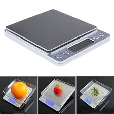 0.1g-2000g Electronic Digital Gold Gem Jewellery Weighing Kitchen Scales + 2XAAA
