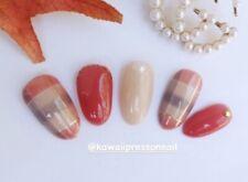 Kawaii Japanese press on nails / Japanese Nail Tip / short / Almond Shape