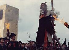 Photo originale Britt Nichols sorcière bucher Les démons Jesús Franco