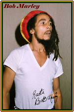 4x6 SIGNED AUTOGRAPH PHOTO REPRINT OF BOB MARLEY