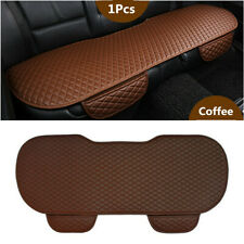 Coffee PU Leather Car Rear Back Auto Seat Cover Cushion Waterproof Protector Mat