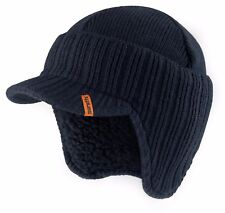 Scruffs Peaked Beanie Hat Navy Insulated Warm Thermal Winter Stylish Peak Cap