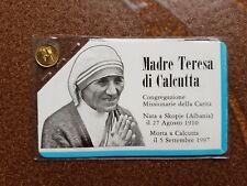 RARE VINTAGE 8K Solid Gold COIN : Miniature Gold coins - Mother Teresa Calcutta