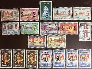 Tonga 1968 Surcharge Set MNH