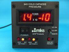MKS 943 COLD CATHODE PRESSURE VACCUM GAUGE CONTROLLER, 943-A-220V60-TR-PC-02