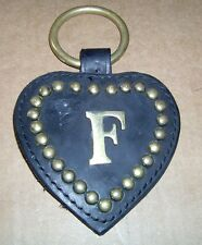 Initial (F) Harness Center Heart - Line Drop Stainless