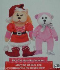 SKANSEN BEANIE KIDS MARY ELF & JOSEPHINE BEARS -  NOT BOXED RELEASED  NOV 2012