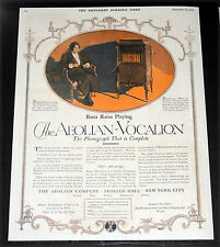 1920 OLD MAGAZINE PRINT AD, AEOLIAN-VOCALION, SOPRANO ROSA RAISA PLAYS ONE, ART!