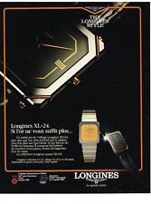 PUBLICITE ADVERTISING  1983   LONGINES  collection montres XL 24