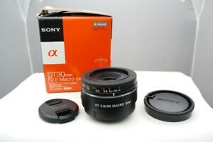 Sony DT 30mm F2.8 Macro Lens. SAM DT SAL30M28. Sony-Alpha A Mount Lens. boxed.