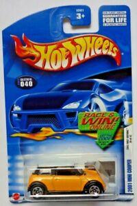 2002 Hot Wheels First Edition 2001 Mini Cooper 28/42 (R&W Card)(5 Spoke Version)
