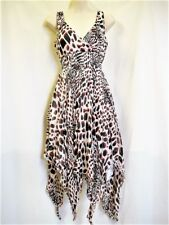 "DRESS WHITE WITH DOTS & SPARKLE ""COVERGIRL"" SZ 8 TO 10 AUZ  ""NWT"" RRP $45 .C47"