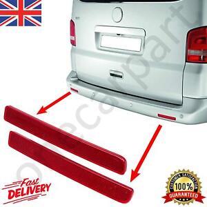 Rear Bumper Red Reflector Set Right & Left Side For VW Transporter MK5, 2003-15
