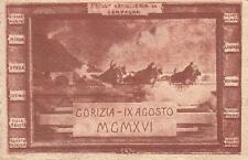 A9154) WW1 BOLOGNA, 3 REGGIMENTO ARTIGLIERIA DA CAMPAGNA, GORIZIA 9/8/1916.