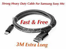 1x 3M Samsung Galaxy S6 S7 Edge S3 S4 S5 Fast Charge Charging Lead Usb Cable