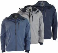 New Mens Firetrap Branded Summer Jacket Casual Hooded Water Resistant Coat