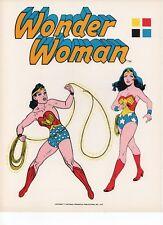 Wonder Woman ORIGINAL 1975 DC COLOR PROOF CHARACTER MODEL Pg Pepsi Glass MEGO +