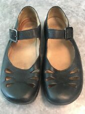 Clarks Black Active Air Flat Comfort Leather Shoes Size 8 D Mary Jane