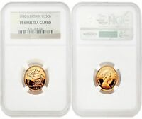 Great Britain 1980 1/2 Sovereign Gold NGC PF69 ULTRA CAMEO