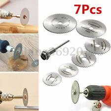 7 PCS Circular Wood Cutting Saw Blade Discs Mandrel For FEIN BOSCH Rotary Tool