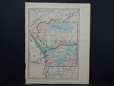 Wisconsin, 1876 County Map, La Crosse or Vernon County, Double Sided M11#24