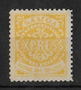 SAMOA 1877-1880 Mint NH 1/- Yellow Perf 12 SG #7b CV £100 VF/XF