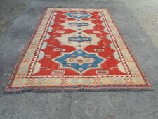 Gorgeous large vintage Turkish Sumak handmade Rug, 6x9ft