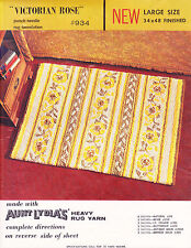 Stamped Rug Canvas: Aunt Lydia's Punch Needle Victorian Rose #934, 34 x 48 in