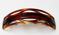 French High Quality Celluloid Tortoise Shell Medium Barrette Hair Clip  T14