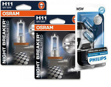 (+ W5W Parkers!) H11 Osram NightBreaker Unlimited 64211NBU Globes Bulbs Lights