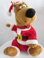 "Gemmy Scooby Doo Santa Claus 11"" Animated Singing Musical Plush EUC"