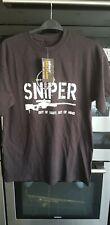 Kombat Sniper T-Shirt Black Adults Cotton Short Sleeved Airsoft Military Large