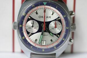 POLJOT Sturmanskie Chronograph, 3133 USSR Russian watch Ocean