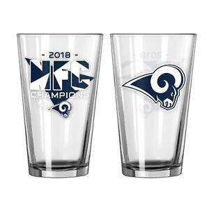 Super Bowl 53 NFC Champions Los Angeles Rams Pint Glass