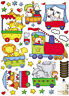 Cute Animals train Home Room Wall Mural Window Decor Sticker decals removable