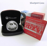2014 YEAR OF THE GOAT PROOF Lunar Silver Coin