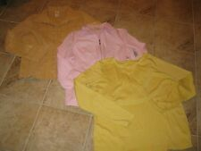 WOMENS SIZE XL(16-18) SHIRT **LOT OF 3** PINK & YELLOW GOLD