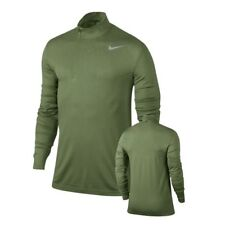 309e2f2a50 Nike Golf Half Zip Dri-Fit Knit Green Pullover Shirt Size Small